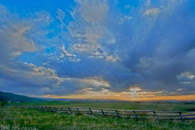 A Magnificent Sunset Sky over Rural Montana by Gordon Wiltsie