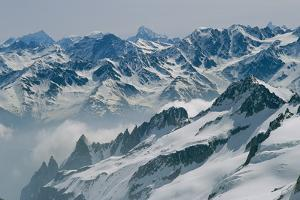 A View of the Swiss Alps from Col Du Chardonnet, Mount Blanc Region by Gordon Wiltsie