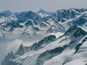 A View of the Swiss Alps from Col Du Chardonnet, Mount Blanc Region by Gordon Wiltsie