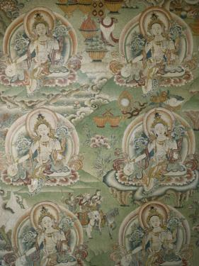 Buddhist Painting Inside the Jokhang Temple in Lhasa, Tibet by Gordon Wiltsie
