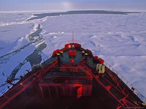 Russian Nuclear Icebreaker, Forges Towards the North Pole by Gordon Wiltsie