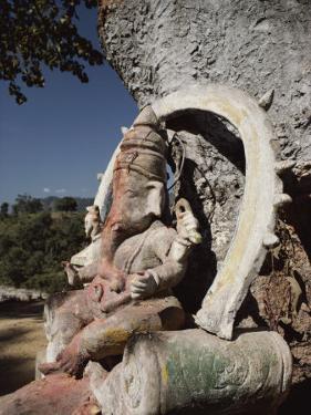 Stone Sculpture Shrine to the Hindu Deity Ganesh by Gordon Wiltsie