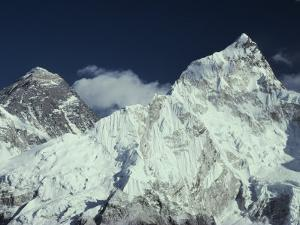 View of Mount Everest and Mount Nuptse by Gordon Wiltsie
