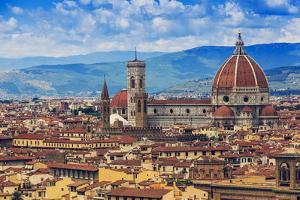 Florence, Italy - View of the City and Cathedral Santa Maria Del Fiore by Gorilla