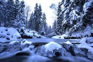 Winter Mountain River- Beskid Mountains, Poland by Gorilla