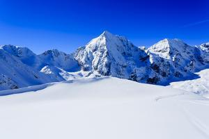 Winter Mountains, Panorama - Snow-Capped Peaks of the Italian Alps by Gorilla