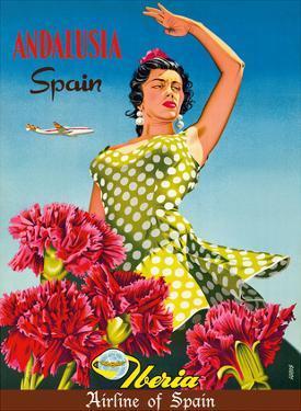 Andalusia, Spain - Iberia Air Lines of Spain - Flamenco Dancer by Goros