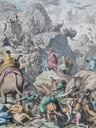 Hannibal Crosses the Alps (From Münchener Bilderboge) by Gottlob Heinrich Leutemann
