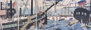 Foreign Ships at Yokohama by Gountei Sadahide