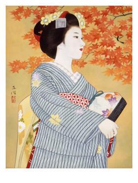 Maiko the Autumn Leaves by Goyo Otake