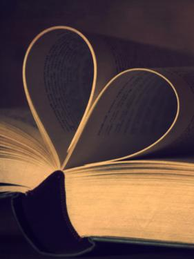 Book Heart Reading by Grab My Art