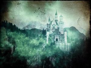 Neuschwanstein Alpes Mountains Forest Castle by Grab My Art
