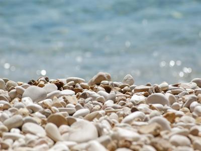 Stones Pebbles Sea Beach Sun