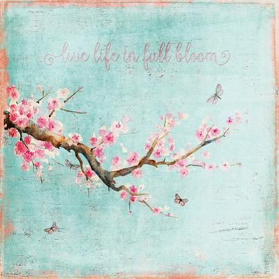 Teal Spring Sakura Cherry Blossom by Grab My Art