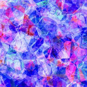 Triangles Abstract Pattern - Square 30 by Grab My Art