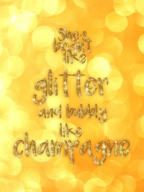 Typography Glitter Gold Champagne 2 by Grab My Art