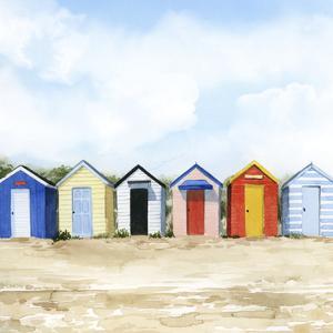 Beach Huts I by Grace Popp