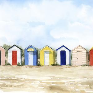 Beach Huts II by Grace Popp