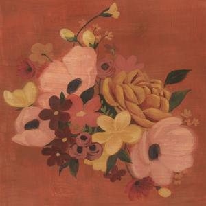 Burnt Orange Bouquet I by Grace Popp