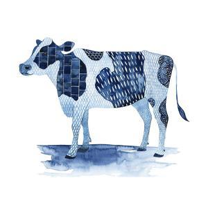 Cobalt Farm Animals I by Grace Popp