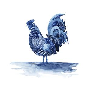 Cobalt Farm Animals IV by Grace Popp