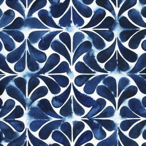 Cobalt Watercolor Tiles III by Grace Popp