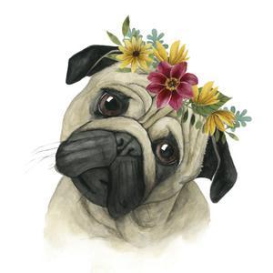 Flower Crown Pup I by Grace Popp