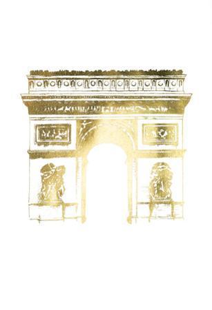 Gold Foil Arc de Triomphe by Grace Popp