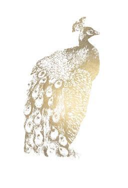 Gold Foil Peacock II by Grace Popp