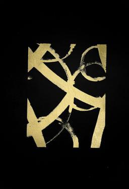 Gold Foil Ripple I on Black by Grace Popp