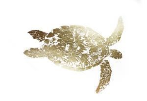 Gold Foil Sea Turtle I by Grace Popp