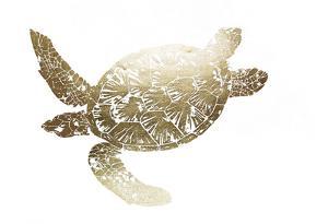 Gold Foil Sea Turtle II by Grace Popp