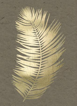 Gold Foil Untethered Palm II on Banana Clay by Grace Popp