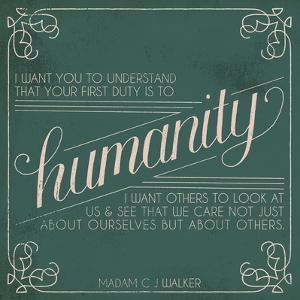 Madam Walker Quote I by Grace Popp