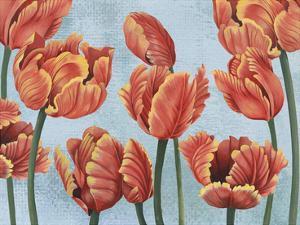 Ruby Tulips I by Grace Popp