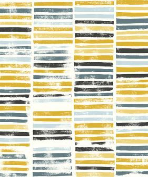 Saffron Block Print II by Grace Popp