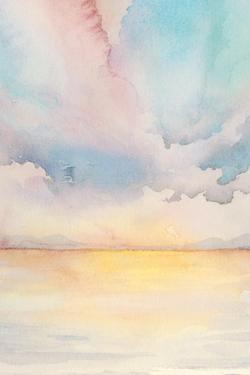 Sea Sunset Triptych II by Grace Popp