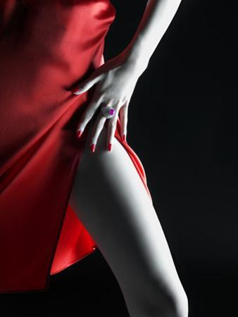 Silky Red Dress by Graeme Montgomery