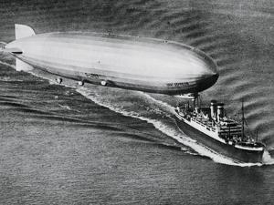 Graf Zeppelin Flying Above the S.S. New York
