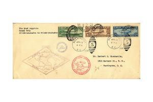 """""""Graf Zeppelin"""" Pan American Flight Cover, National Museum of American History"""