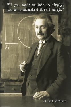 Albert Einstein Quote Poster by Graffi*tee Studios