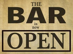 Bar Is Open by Grafittee Studios
