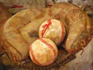 Baseball Catchers Mitt by Grafittee Studios