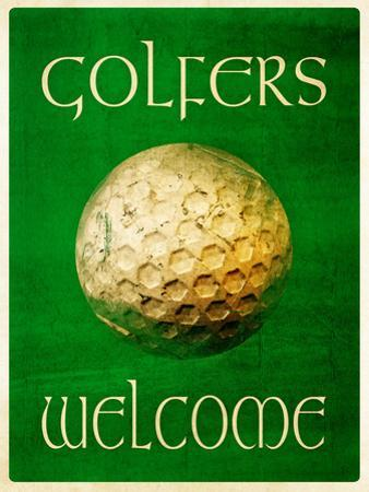 Golfers Welcome by Grafittee Studios