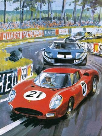 Jochen Rindt Driving a 250 Lm Ferrari