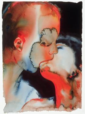 Close-Up Kiss, 1988 by Graham Dean