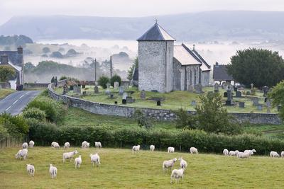 Early Morning Mist in the Valleys Surrounds St. David's Church
