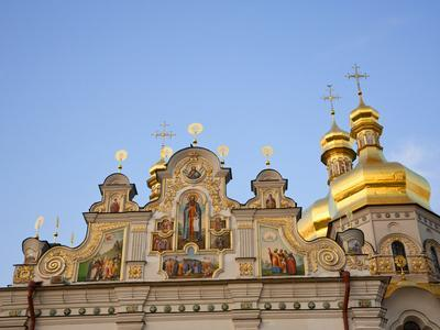 Holy Dormition, Kiev-Pechersk Lavra, UNESCO World Heritage Site, Kiev, Ukraine, Europe