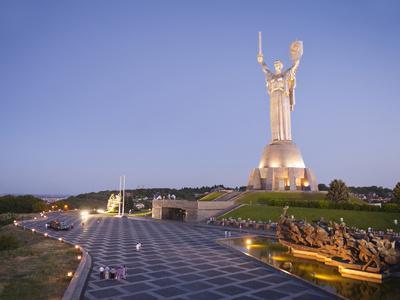 Motherland Statue (Rodina Mat) and the National War Museum, Kiev, Ukraine, Europe