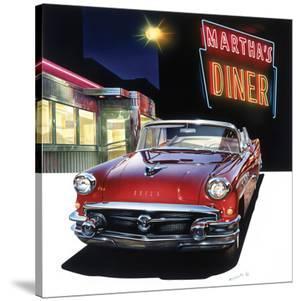 Buick '56 at Martha's Diner by Graham Reynold